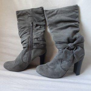 GUC Diba Faux Suede Heel Boots